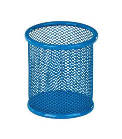 Підставка для ручок кругла, металева, синя, ZB.3100-02