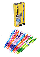 Ручка масляная Hiper Flambo, автоматическая, 10шт/упак., синяя, HA-135син