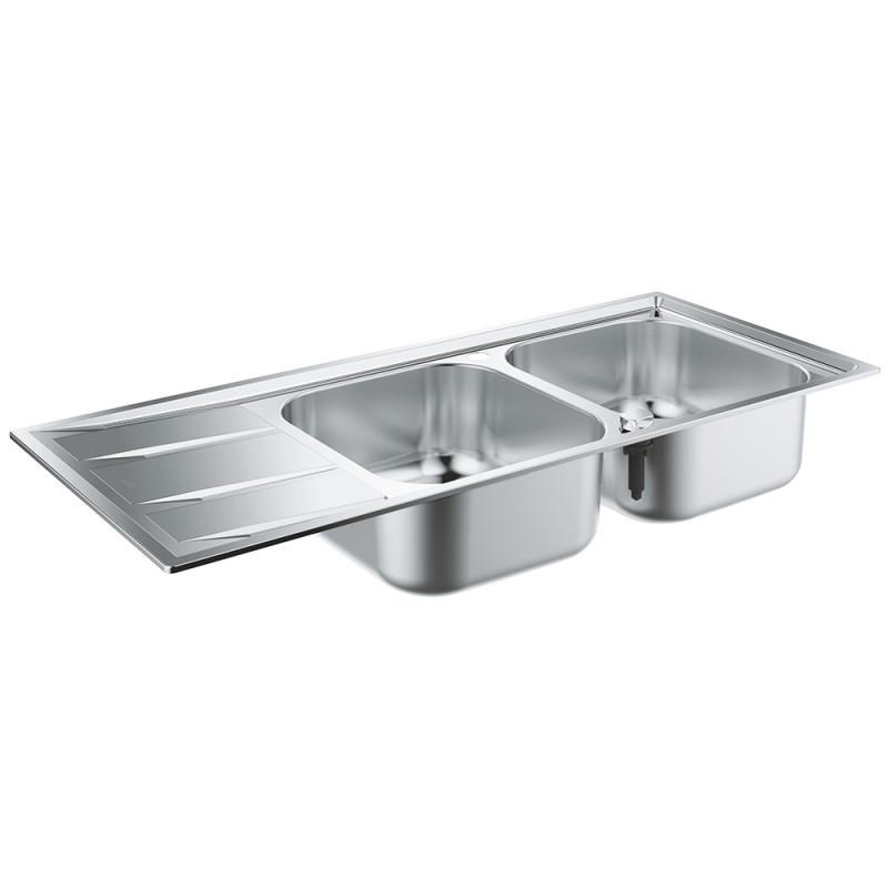 Звоните. Будет дешевле. Кухонная мойка Grohe EX Sink K400 двойная с крылом 31587SD0