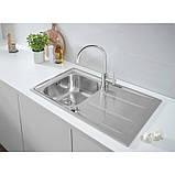 Звоните. Будет дешевле. Набор кухонная мойка Grohe EX Sink 31570SD0 K400 смеситель Concetto 32663001, фото 5