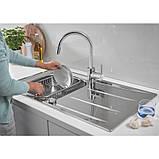 Звоните. Будет дешевле. Набор кухонная мойка Grohe EX Sink 31570SD0 K400 смеситель Concetto 32663001, фото 6