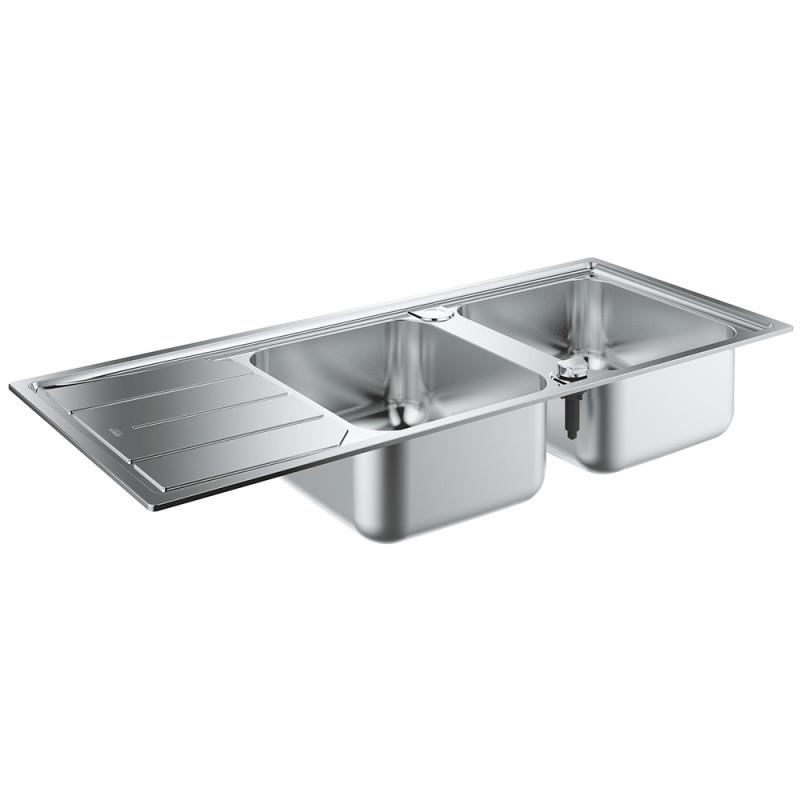 Звоните. Будет дешевле. Кухонная мойка Grohe EX Sink K500 двойная с крылом 31588SD0