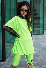 Неоновый костюм для девочек  Sh-114 тм Barbarris размеры 134- 164
