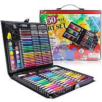 Большой набор Painting Set Pink 150 предметов детский для рисования и творчества Mega Art Set
