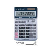 Калькулятор Optima 12 разрядный электронный 230*165*45мм О75501