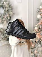 Мужские кроссовки черные Adidas DAROGA. Осенние кроссы Адидас Дарога. Мужская обувь Адидас.