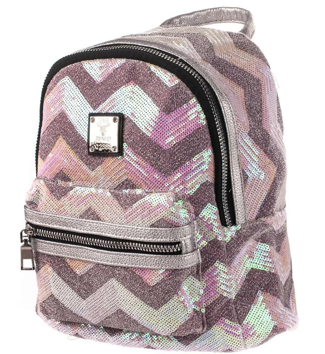 Рюкзак женский городской из текстиля с пайетками BR-S 1224917120