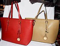 Женские классические сумки класса Люкс на молнии 37*28 см (красная и хаки)