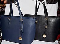 Женские классические сумки класса Люкс на молнии 37*28 см (синяя и черная)