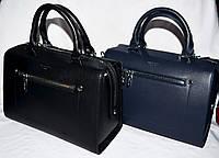 Женские каркасные сумки Премиум класса на молнии с ремешком 29*20 см (черная и синяя)