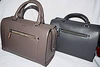 Женские каркасные сумки Премиум класса на молнии с ремешком 29*20 см (хаки и серая)