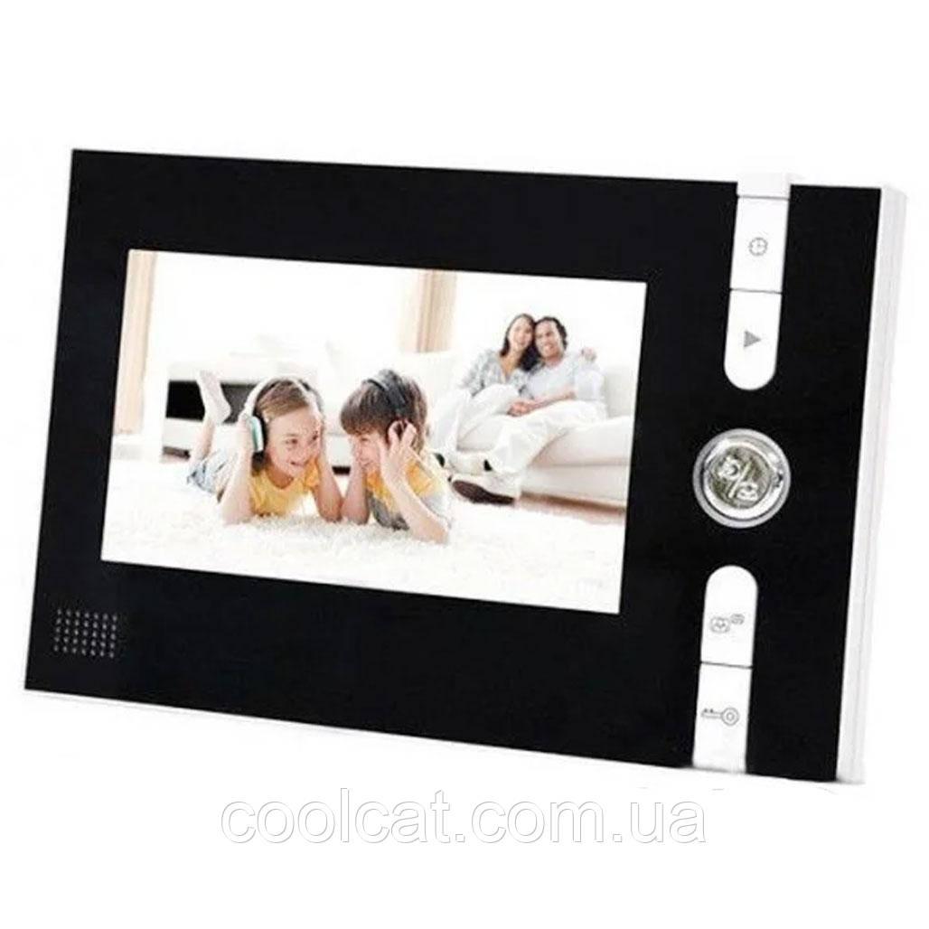 """Видеодомофон с цветным экраном 7"""" UKC JS 715 со звонком"""