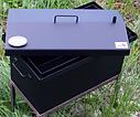 Домашняя коптильня для горячего копчения домик окрашенная с термометром 520х300х310, фото 3