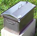 Домашняя коптильня для горячего копчения домик с термометром 520х300х310, фото 2