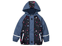 Куртка грязепруф, водонепроницаемая синяя в звездочки Lupilu (Германия) р.86/92, 122/128см