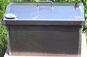 Домашняя коптильня для горячего копчения домик с термометром 520х300х310, фото 3
