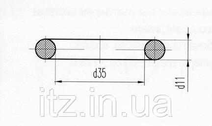 Кільце ущільнювальне Д131.00.38 (Д100-01-038)