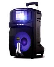 Аккумуляторная колонка с микрофонами Temeisheng SP-1509 / 400W (USB/Bluetooth/Пульт ДУ/Светомузыка)