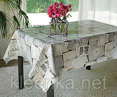 Клеенка кухонная на стол на тканевой основе с рисунком