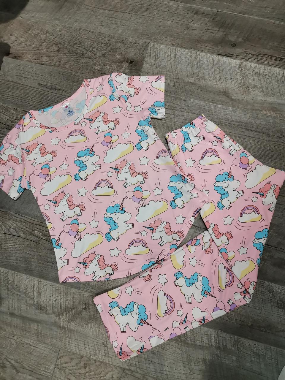 Молодежная пижама единорожки 320-23