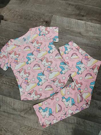 Молодежная пижама единорожки 320-23, фото 2