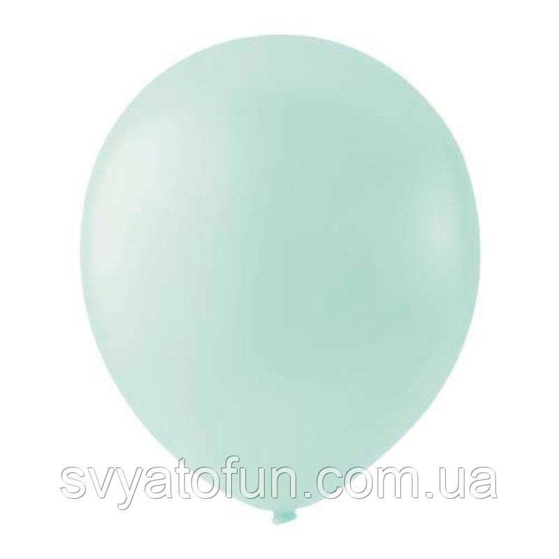 """Латексные шарики 12"""" пастель Macaroon Mint 087 (мята) 100шт/уп Мексика"""