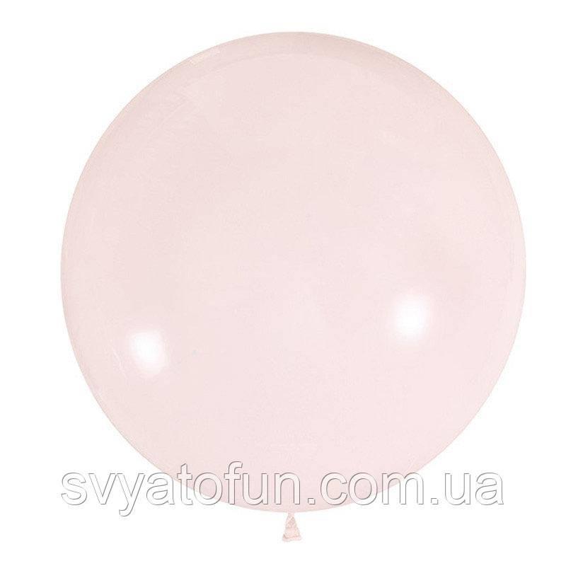 """Латексный шарик 24"""" пастель Macaroon Strawberry 084 (клубника) 1шт Мексика"""
