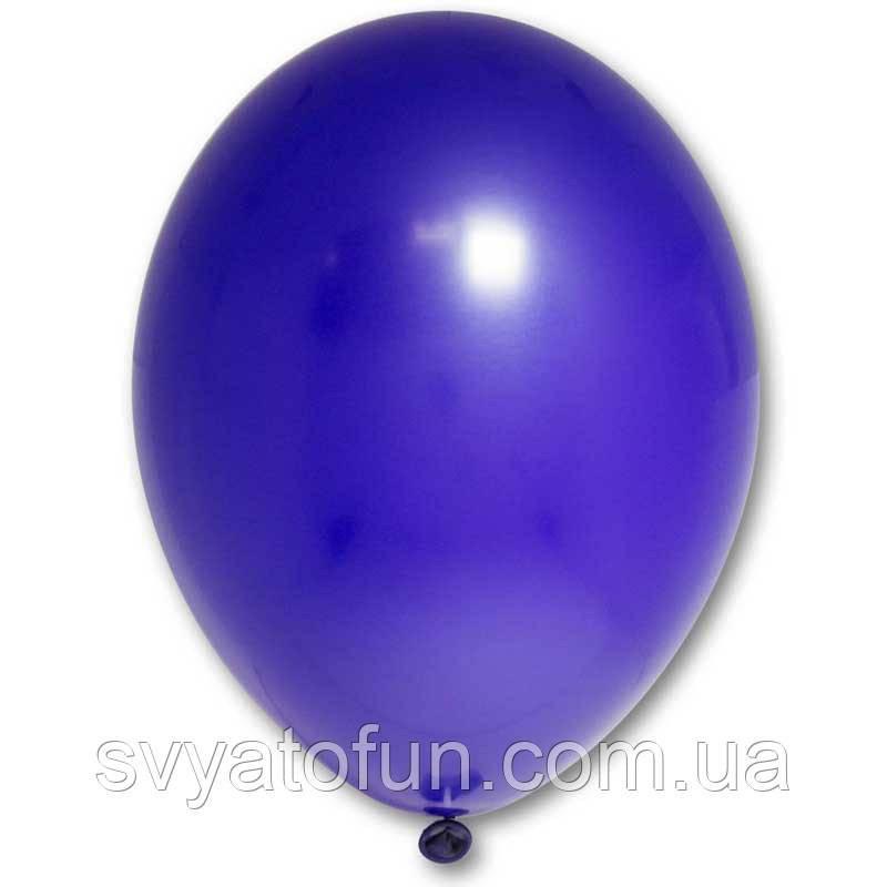 """Латексные шарики 12"""" пастель В105/105 темно-синий 10шт/уп BelBal"""