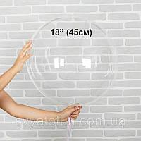 """Надувной круглый шар Bubbles без рисунка 18""""(45см) прозрачный Китай, фото 1"""