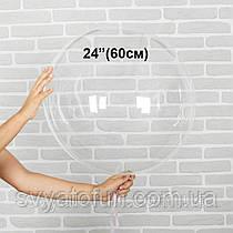 """Надувной круглый шар Bubbles без рисунка 24""""(60см) прозрачный Китай"""