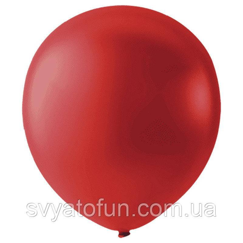 """Латексные шарики 12"""" металлик Cherry Red 031 (вишневый) 20шт/уп Мексика"""
