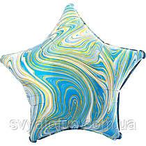 "Фольгований куля-зірка ""Агат блакитний Blue Marble S18"", Anagram"
