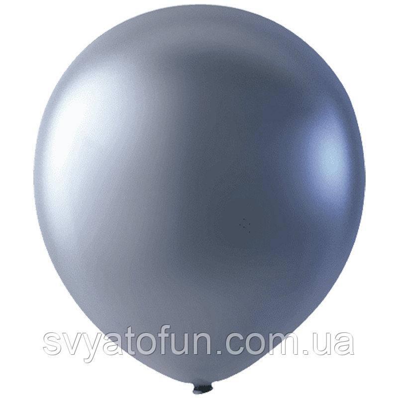 """Латексні кульки 12"""" металік Silver 026 (срібло) Мексика 100шт/уп"""