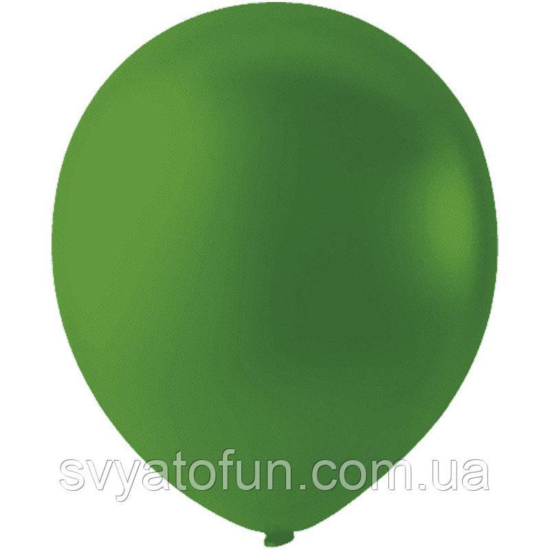 """Латексные шарики 12"""" пастель Dark Green 009 (темно-зеленый) 100шт/уп Мексика"""