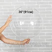 """Надувной круглый шар Bubbles без рисунка 36""""(91см) прозрачный Китай"""