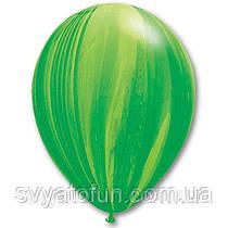 """Латексные воздушные шарики пастель 11"""" агат зеленый 10шт Qualatex"""