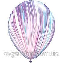 """Латексные воздушные шарики пастель 11"""" агат стильный 10шт Qualatex"""