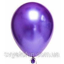 """Латексные воздушные шарики хром 11"""" фиолетовый 10шт Qualatex"""
