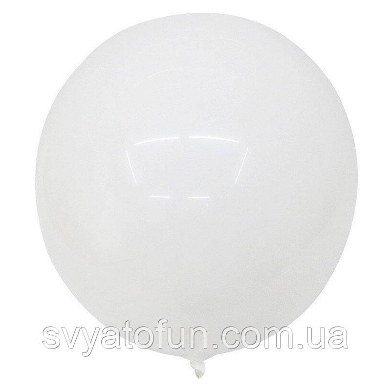 """Надувной круглый шар Bubbles BL без рисунка белый 18""""(45см) Китай"""