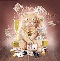 Кіт Lucky Розмір вишивки 35*35 см