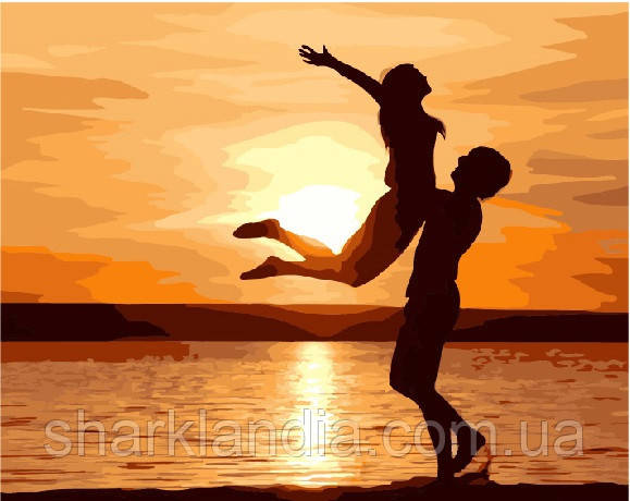 Картина по номерам Счастье 40*50см Brushme G331