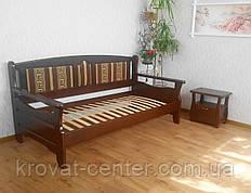 """Диван ліжко з дерева з м'якою спинкою """"Орфей - 3"""""""