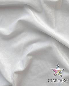 Бархат (Оксамит) стрейч Белый