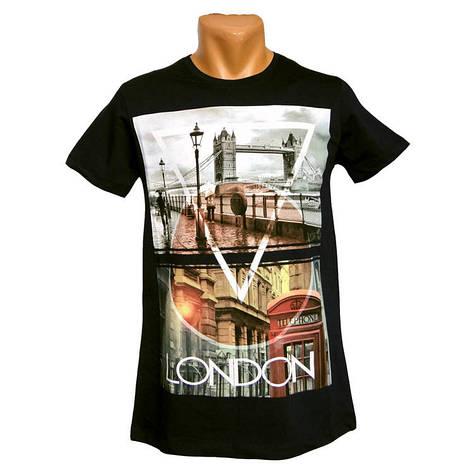 Мужская футболка London черный, фото 2