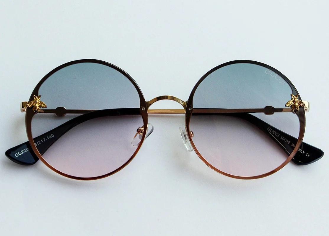 Круглые солнцезащитные очки женские стильные