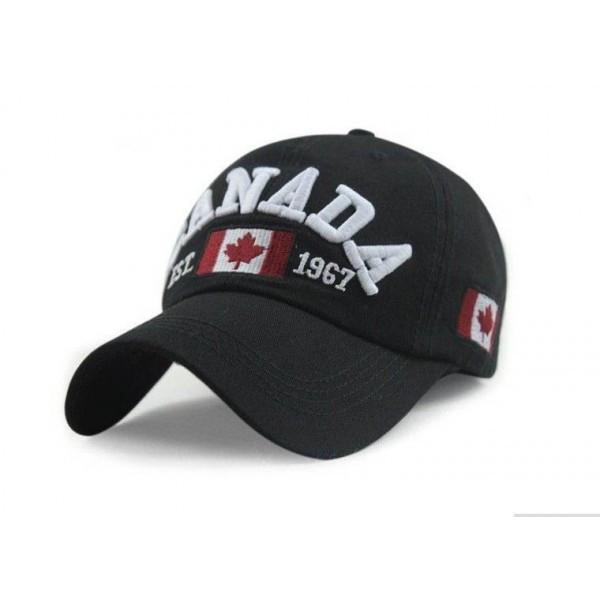 Фирменная бейсболка Canada, черный