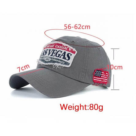 Чоловіча кепка Las Vegas, чорний, фото 2