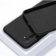 Чехол Silicone case full для Realme 6 PRO черный (реалми 6 про)