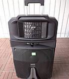 Аккумуляторная колонка с микрофонами Temeisheng SP-1509 / 400W (USB/Bluetooth/Пульт ДУ/Светомузыка), фото 5