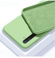 Чехол Silicone case full для Realme 6 PRO зеленый (реалми 6 про)